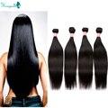 Peruvian Straight Hair High Quality Peruvian Virgin Hair Straight 4 Bundles Human Hair Weave  Rosa Queen Hair Products