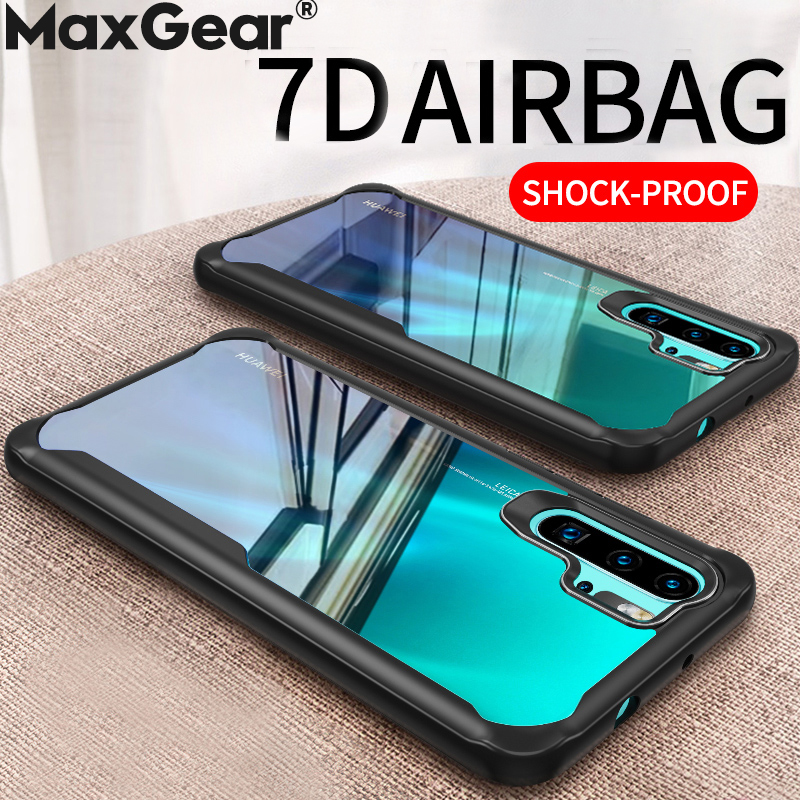 Clear Shockproof Silicone Frame <font><b>Case</b></font> For Huawei P20 <font><b>P30</b></font> Pro Mate 10 20 Lite Nova 4 3 3i 3E P Smart Plus Y6 2018 Y7 Y9 2019 Cover image