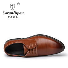 2017 New High Quality Leather wedding Men Shoes Brogues, Lace-Up Bullock Business Men Oxfords Shoes Men Dress Shoes Flats
