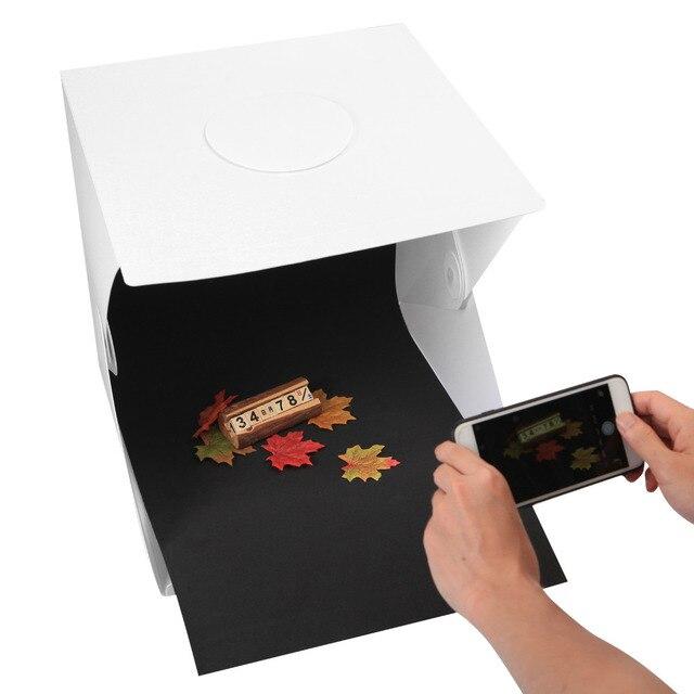 40cm Mini Folding Photography Stutio LED Light Softbox Portable Desktop Soft box Switch USB Cable Background Accessories