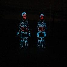 Новая коллекция LED холодный свет el Провода костюм одежда праздничная Вечеринка Световой светящийся Костюмы сцены Костюмы