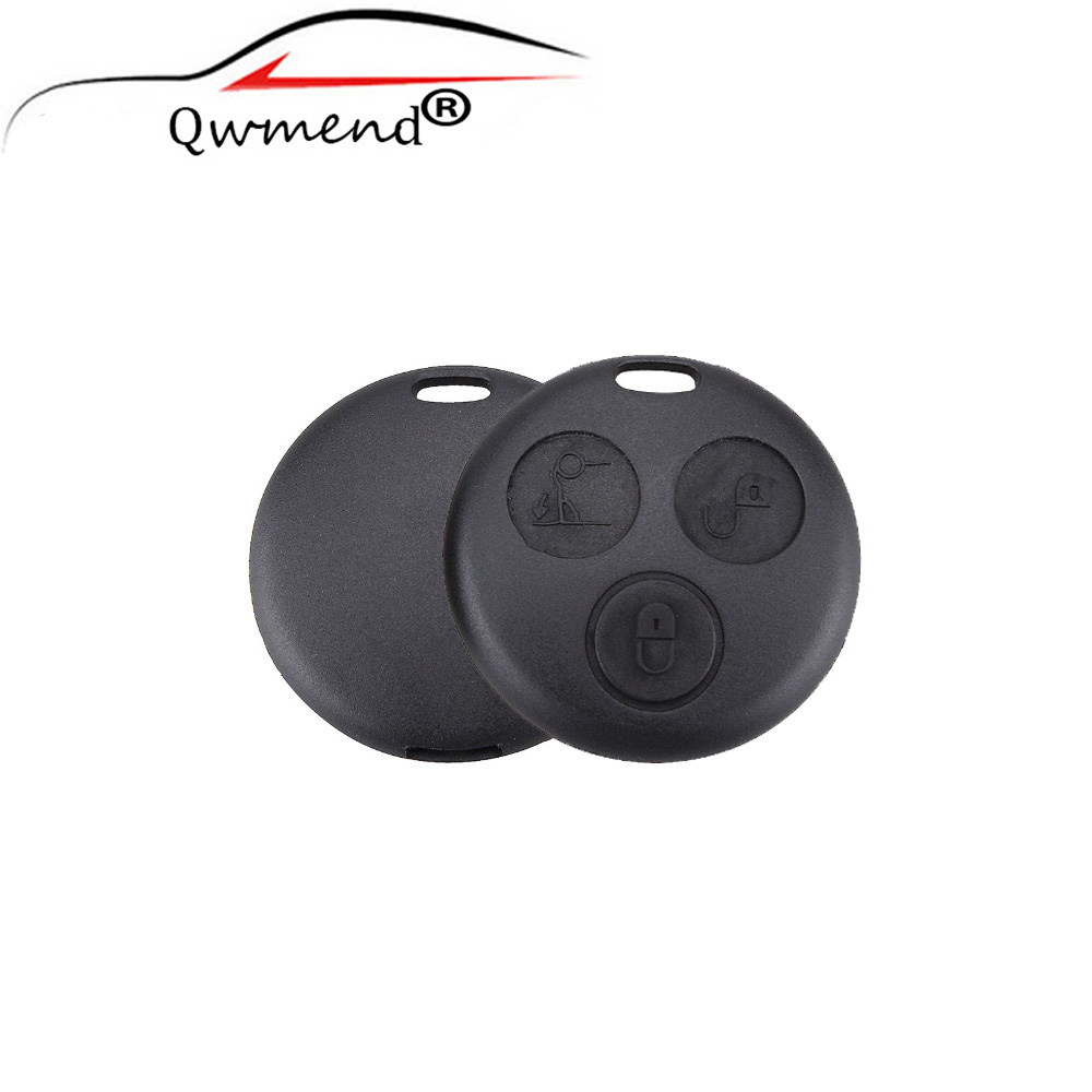 Car-Key-Shell Case Blade Smart-Fortwo Mercedes-Benz Replacement 3-Buttons Without Hot-Sale