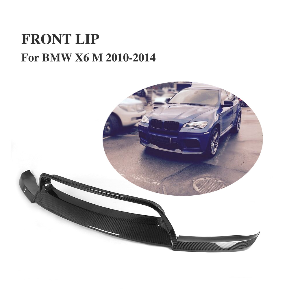 Углеродного волокна передний спойлер подбородка фартук для BMW X6 м бампер 2010 2014 В Стиль
