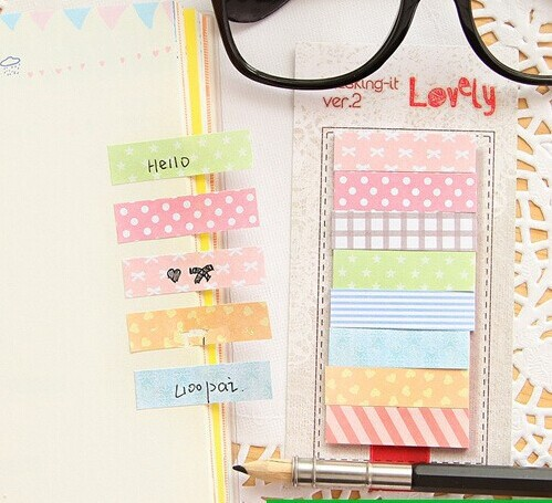 1pcs/lot Countryside masking series lovely Notepad /memo pad /sticky note / label / message post marker/wholesale/Free Shipping
