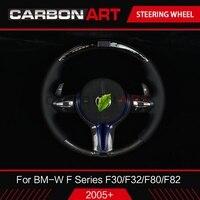 Светодиодный спортивный руль для BMW X5 X6 F15 F16 E70 E71 экран СВЕТОДИОДНЫЙ Индикатор прибора и отделкой из углеродного волокна X5 F15 X6 F16 автозапчаст