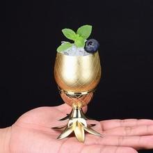 80 ML Criativo Modelo De Abacaxi Em Aço Inoxidável Copo de Cocktail Liga Destacável Mini Espírito Bartender Servindo Vinho de Vidro Drinkware