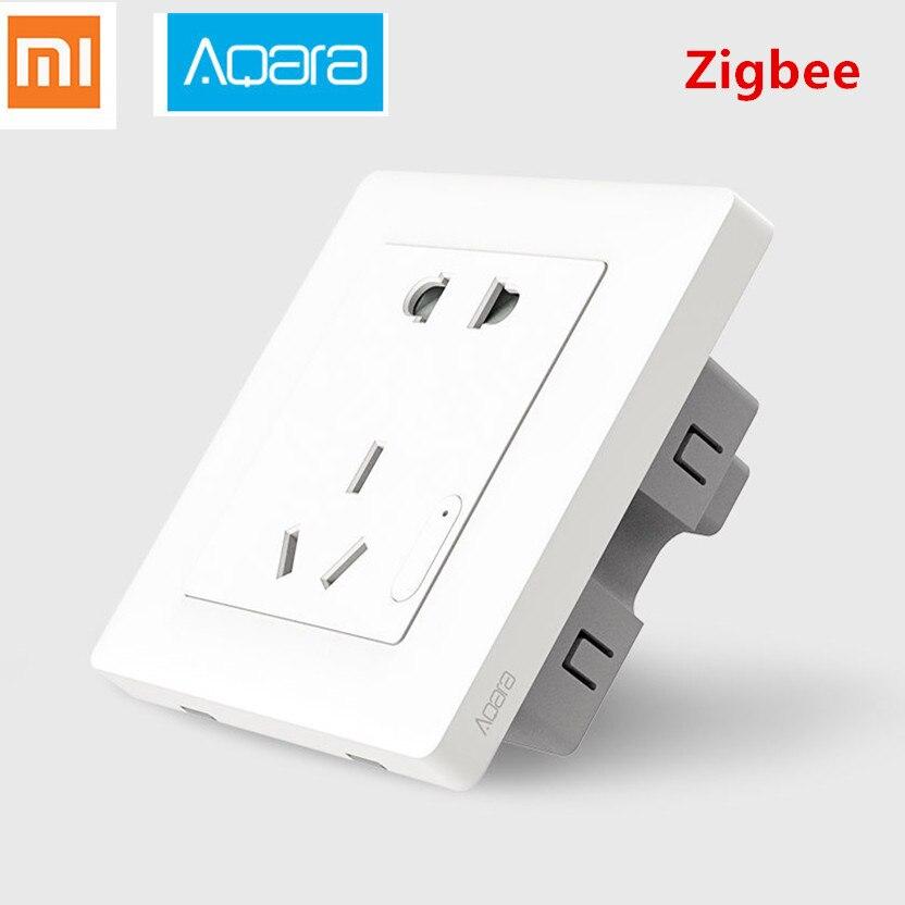 Smarte Fernbedienung Original Xiaomi Aqara Smart Steckdose Zigbee Wifi Remotel Kontrolle Drahtlose Schalter Arbeit Für Xiaomi Smart-home-kits App C2
