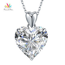 Peacock Star 5 Ct Heart Pendant Necklace Solid 925 Sterling Silver Fashion Wedding Jewelry CFN8043