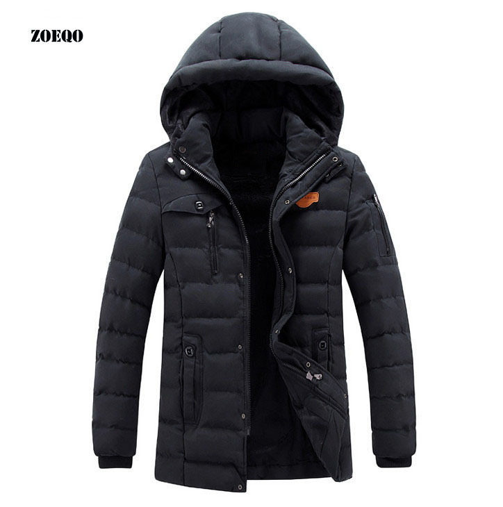 Puffer Jacket Warm Overcoat Outwear Padded Hooded Down Winter Coat TOOPOOT New Men Coat