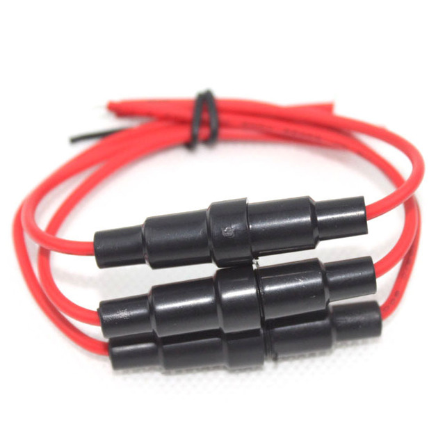 10pcs 6x30mm Agc Glass Blow Fuse Holder Inline Type 20 Awg Wire Cable P0