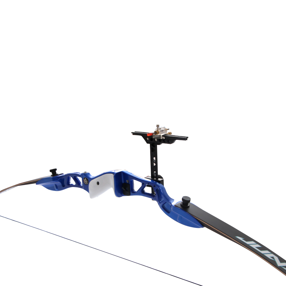 Durable archery training recurve bow 66'' take down bow 30lbs blue riser humans bow down