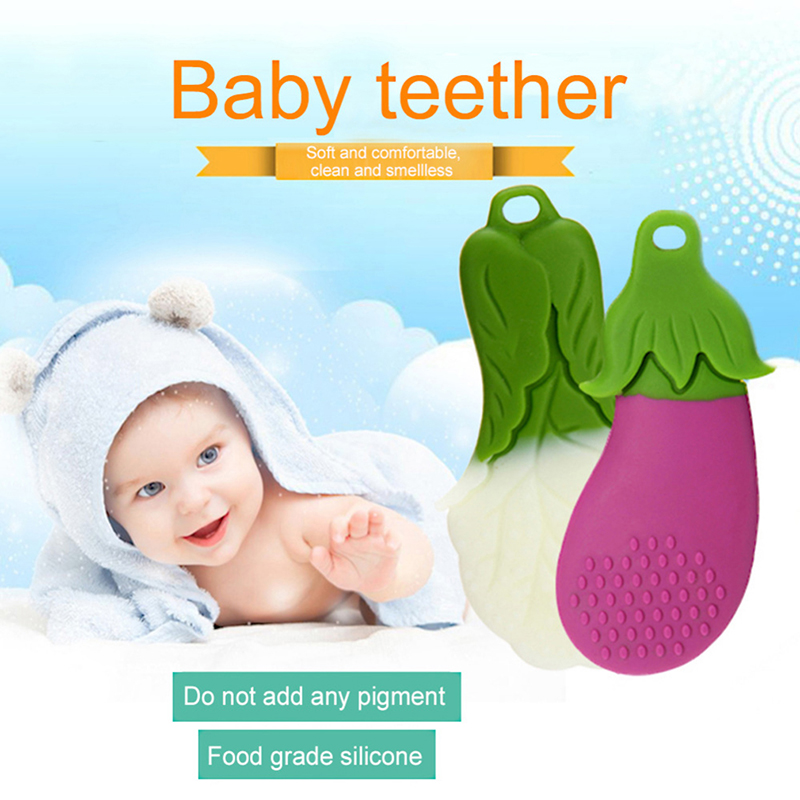 Cute Baby Silicone Teethers for Training Soft Tooth Chew Toys 1pcs
