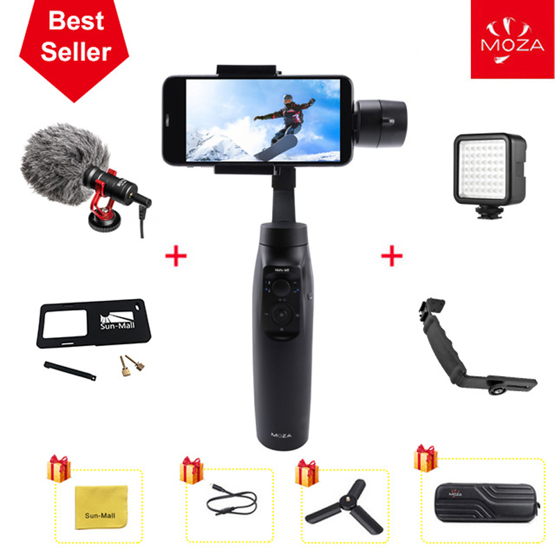 Moza Mini Mi 3-Axis Handheld Gimbal Stabilizer For Good Telephone Iphone X eight Plus eight 7 Samsung S9 S8 S7 With Most Payload 300G