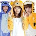 Hot Unisex Franela Pijamas Unicorn Stitch Panda de la Historieta Ropa de Dormir de Cosplay Animal Onesies Mujeres Hijo Adulto Pijama de Invierno