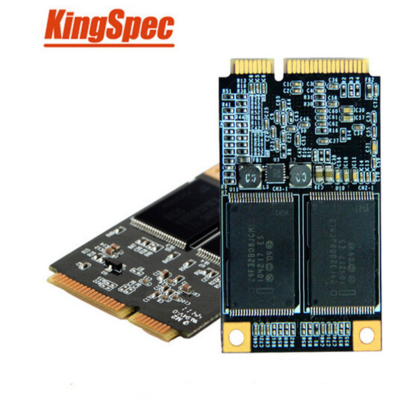 Kingspec mSATA SSD internal SATA MLC 8GB 16GB 32GB 64GB 128GB Flash storage Solid State Disk high compatible for laptop/Notebook new kingspec ssd sata dom 32gb kdm sa 51 032gmj 1ch mlc 7pins industrial disk on module solid state drives for pos