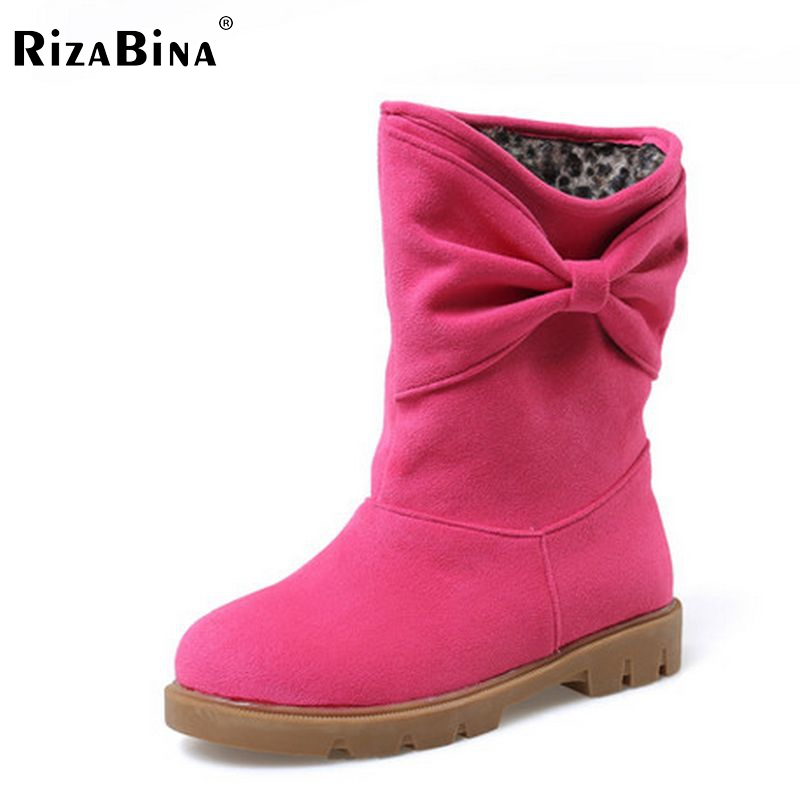 ФОТО ladies falt  women half short bowknot botas warm winter snow boot leisure quality footwear shoes P20600 size 34-43