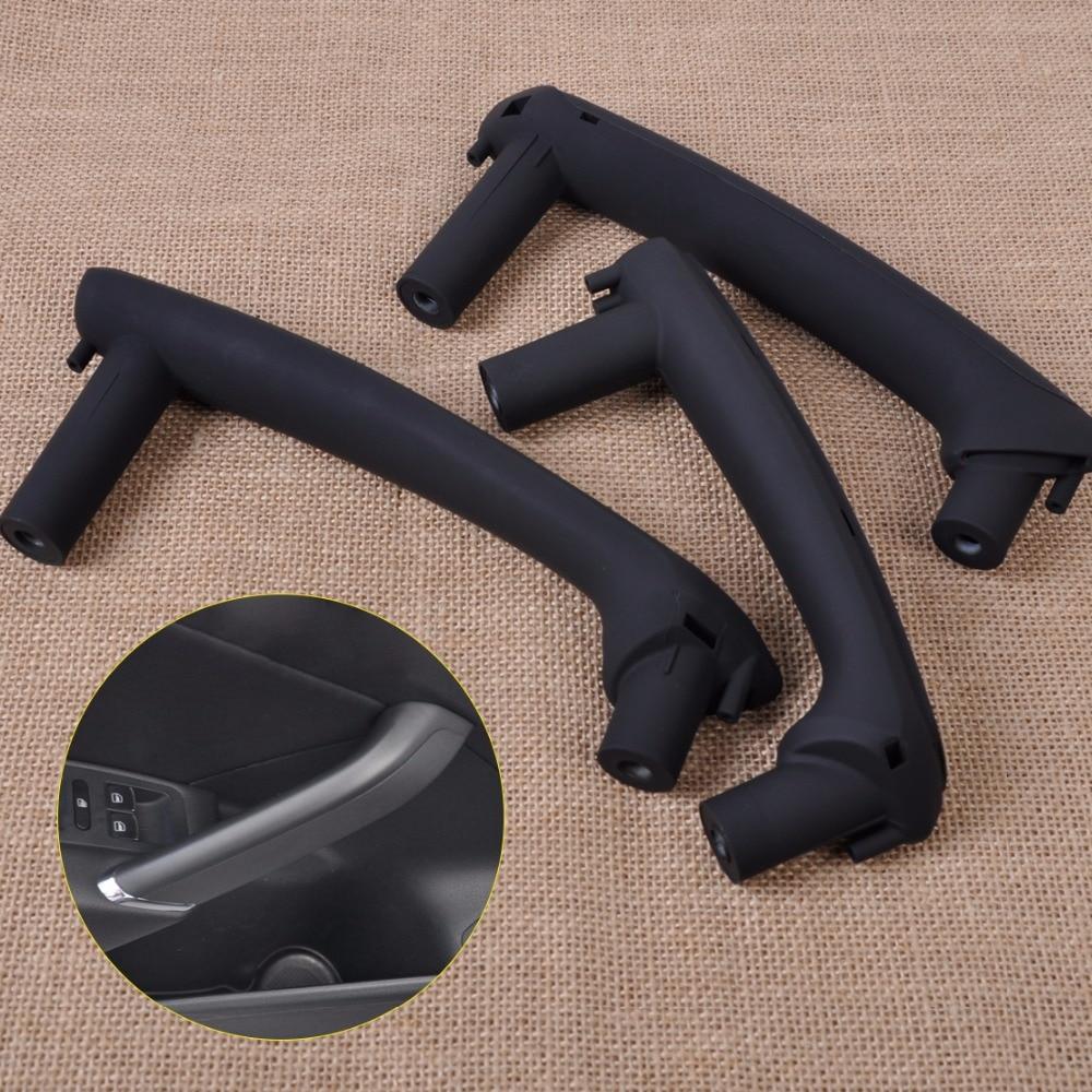 DWCX New 3pcs Black Interior Door Pull Grab Handle With Trim Cover 3B4867372 3B0 867 180 A 3B0867180A For VW Passat B5 1998-2005 цена 2017