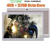 DHL Libre 10 pulgadas Tablet Android 5.1 Octa core 4 GB de RAM 64 GB ROM 8 Núcleos Cámaras Duales 5.0MP 1280*800 IPS WiFi GPS tabletas + Regalos