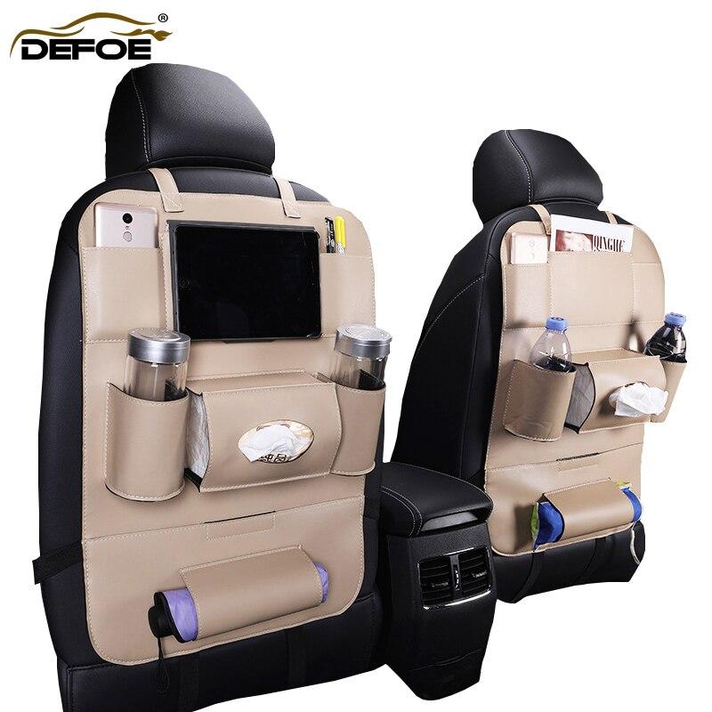 Envío Gratis cubierta de asiento de coche bolsa de almacenamiento multifuncional caja de almacenamiento de asiento trasero del coche bolsa impermeable limpiar fácilmente