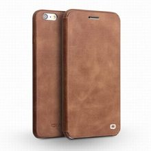 QIALINO For iphone 6&6s Case Ultra slim Real Leather Case for iPhone 6/6s plus Style High Quality Flip Cover for iphone6 4.7/5.5