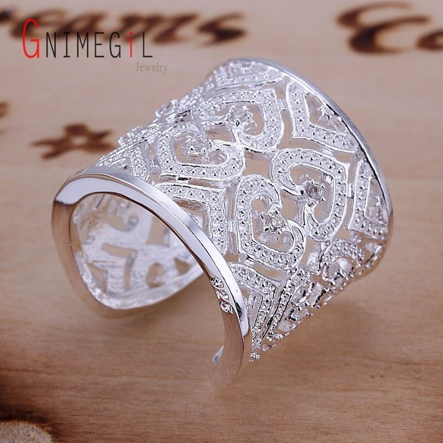 Aliexpress.com : Buy GNIMEGIL Hollow Heart Insert Crystal Opening ...