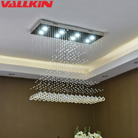 Luxury K9 Crystal LED Chandeliers GU10 Bulbs Dinning Room Indoor Chandelier Light Lamp K9 Suspensions Home Lamps Hotel Fixtures