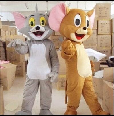 Nouveau costume de mascotte Tom Cat et Jerry Mouse, poupées de dessin animé Tom et Jerry vêtements de performance livraison gratuite