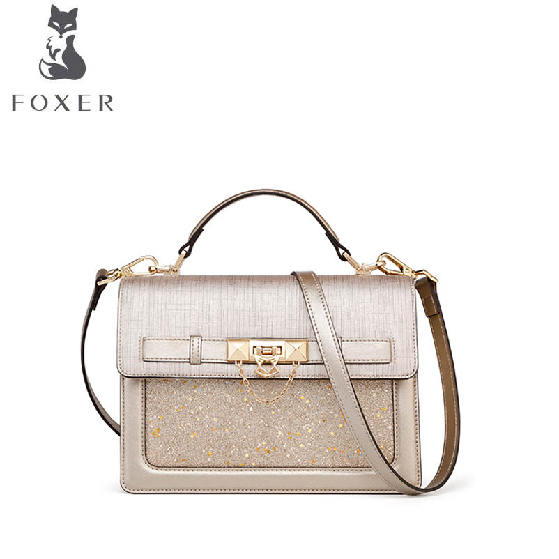 FOXER brand bags for women 2018 new women leather bag fashion luxury small tote bag designer women leather handbags shoulder bag 2018 new foxer women leather bag fashion luxury small bags women famous brand designer shoulder bag handbags