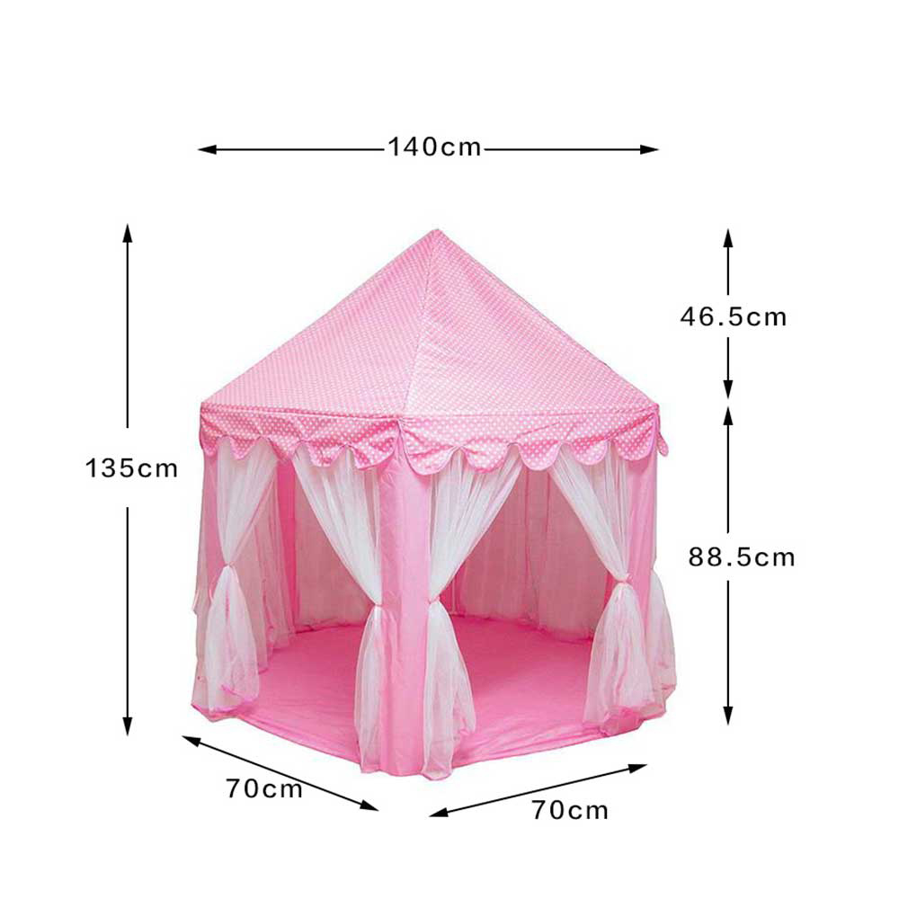 menina princesa castelo tendas dobravel playhouse bola 05