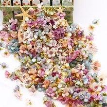50/100 pièces multicolore marguerite fleur tête Mini soie artificielle fleur pour mariage fiançailles fête décor à la maison bricolage guirlande coiffure