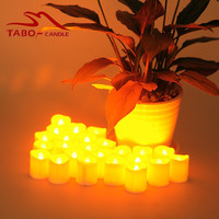 Small Led Candles Electric Yellow Light LED Tea Light Candles Battery Flickering LED Tealight Candles For