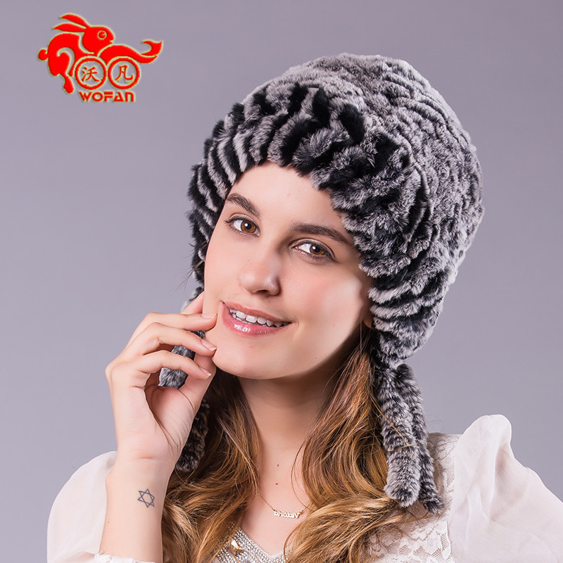 ФОТО 2014 Hot fashion excellent rex rabbit fur hat Genuine Women winter cap high quality beret hat