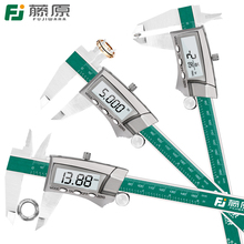 FUJIWARA Digital Display Stainless Steel Caliper 150mm 1/64 Fraction/MM/Inch High Precision  LCD Vernier Caliper IP54 Waterproof