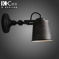 KC освещения промышленность кантри Ретро лестницы коридор открытый настенный светильник Утюг регулируемый светодиодный светильник