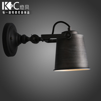 KC lighting industry American country retro stair corridor outdoor wall lamp iron adjustable LED lamp