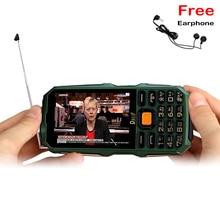 Longue attente extérieure Analogique TV 3.5 «grand écran écriture écran tactile lampe de poche power bank dual sim robuste mobile téléphone P291