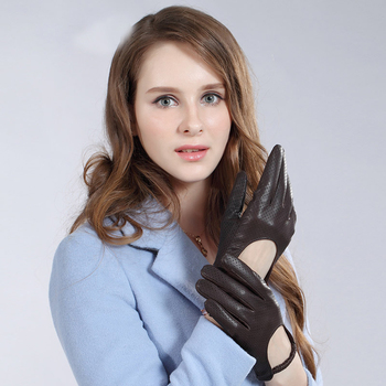 Genuine Leather Gloves Female Sheepskin Spring Autumn Thin Elastic Wrist Design Driving Woman's Gloves S/M/L/XL TU1012 british auto association frommer s® italy s best–loved driving tours