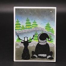 ZhuoAng wonderful night Metal Cutting Mold DIY Scrapbook Album Decoration Supplies Clear Stamp Paper Card