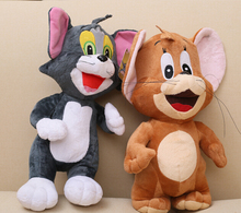 28cm1pcs/set Baby Toys Cat Tom And Jerry Mouse Plush Stuffed Toys Dolls Boneca Pelucia Brinquedos Learning&Education For Kids,