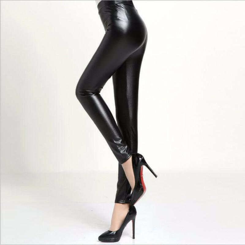 e10f1c7fdbfced Warm Winter Leggings Winter Velvet Pants Women Faux Leather Trousers ...