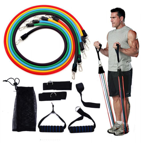 Portable CrossFit Muscle Training Rope Chest Expander Puller Exercise F