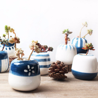 Cartoon Style 8 Original Design Mini Ceramic Succulent Plant Pot Handmade Porcelain Planter Home Decor Flower Pot Bonsai Planter