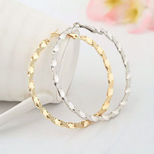1 Pair Sell Twisted Loops Flower Stud Earrings For Women Fashion Jewelry Double Sided Gold Silver Plated Earrings 2018(China)