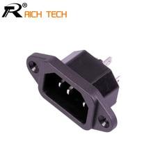 3 шт., черная розетка IEC320 C14 с 3 контактами, 250 В, 10 А
