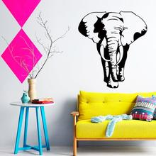 цена на Art Design cheap home decoration Vinyl Thailand elephant Wall Sticker removable house decor cool animal decals in family rooms
