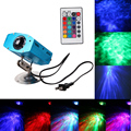Remote 3W RGB LED Water Wave Effect Stage Light New Water Ripples professional lighting for Party DJ Show  US plug
