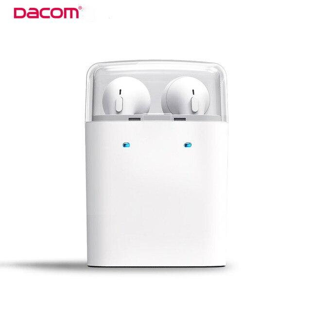 Original verdadeiro dacom sem fio bluetooth fones de ouvido fones de ouvido fone de ouvido para iphone 7 7 plus duplo twins para smartphones
