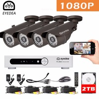 Mother S Day Eyedea 8 CH Standalone Remote Monitor DVR Recorder 1080P 2 0MP 5500TVL Outdoor