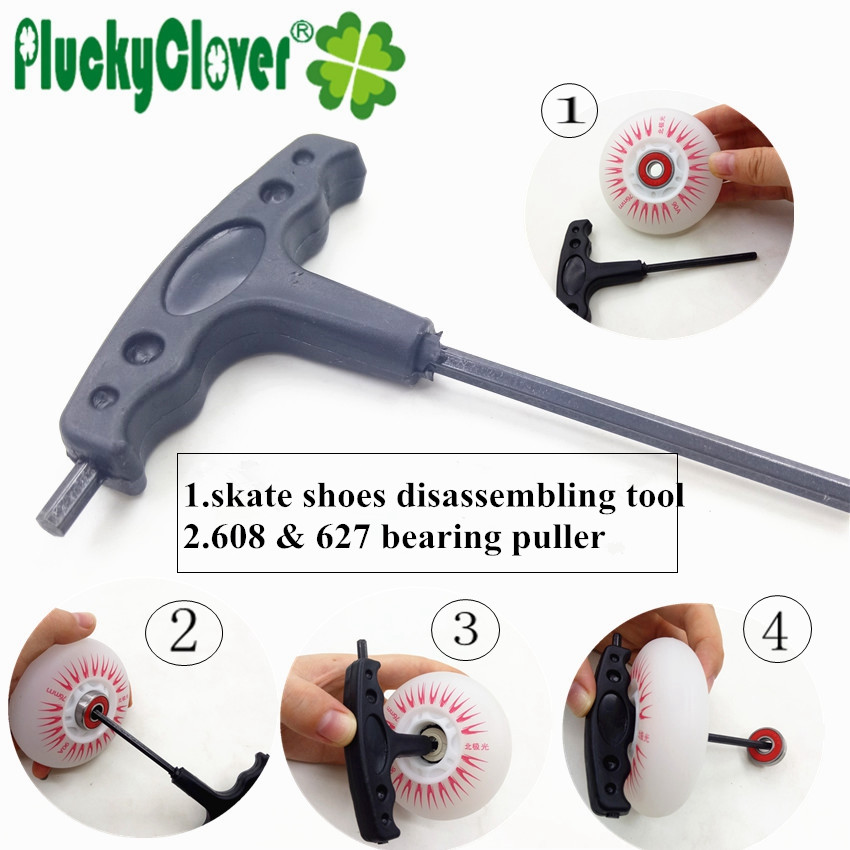 Inline Skate Fix Handle T-Tool Quad Skates Wrench Speed Skating Skateboard Tool Hex Allen Key Tool T shape Tool for Roller skate