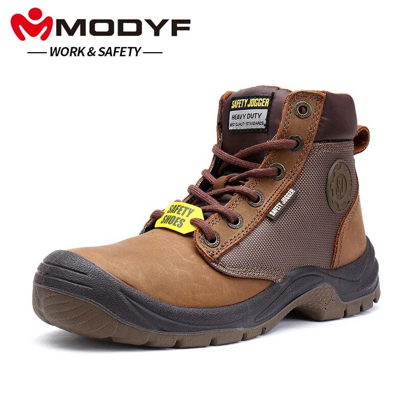 MODYF Для мужчин Рабочая обувь сапоги Сталь носком Водонепроницаемый Нескользящие Многофункциональный Открытый проколов защиты, обувь